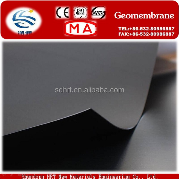 40mil/60mil Factory supply HDPE/LDPE/LLDPE Black Smooth Geomembrane Price