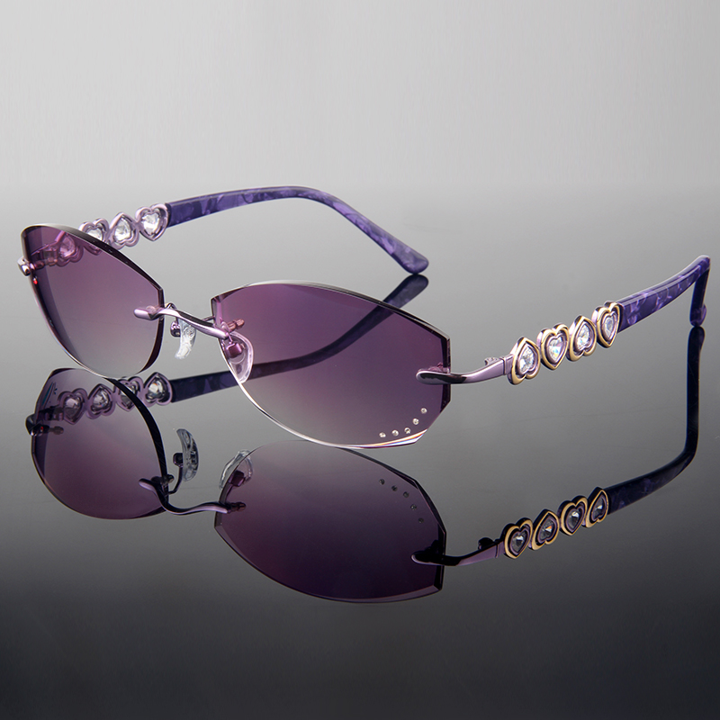 65e04df30f7 Rimless Frames For Women With Rhinestones