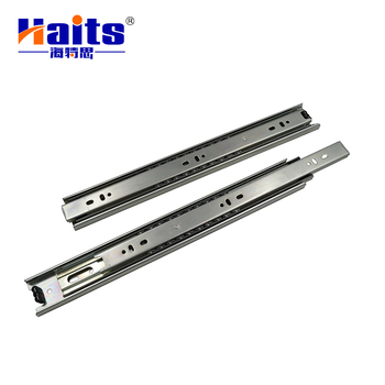 Kitchen Furniture Stainless Steel L Shaped Cabinet Roller Rail Travel Undermount Heavy Duty Ball Bearing