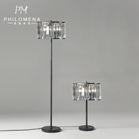 2017 European Concise Glass Crystal Luxury Hotel Electric Iron Candle Table Lamp