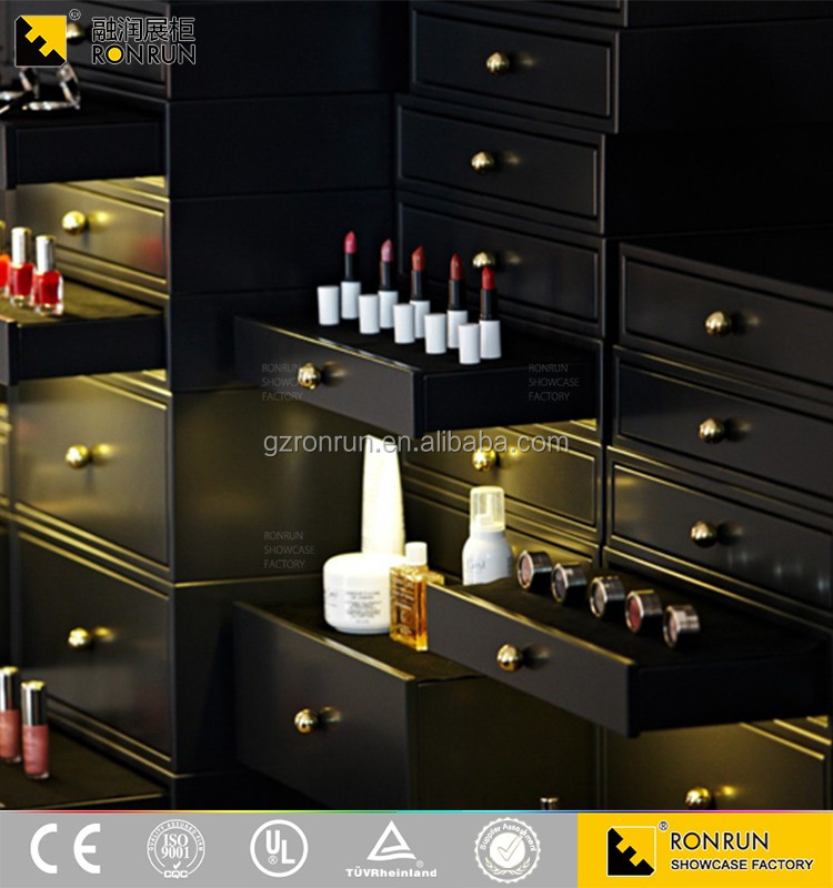 RCF1179 High Quality Charming Retro Elegant Cosmetics Display Showcase And Storage locker Design