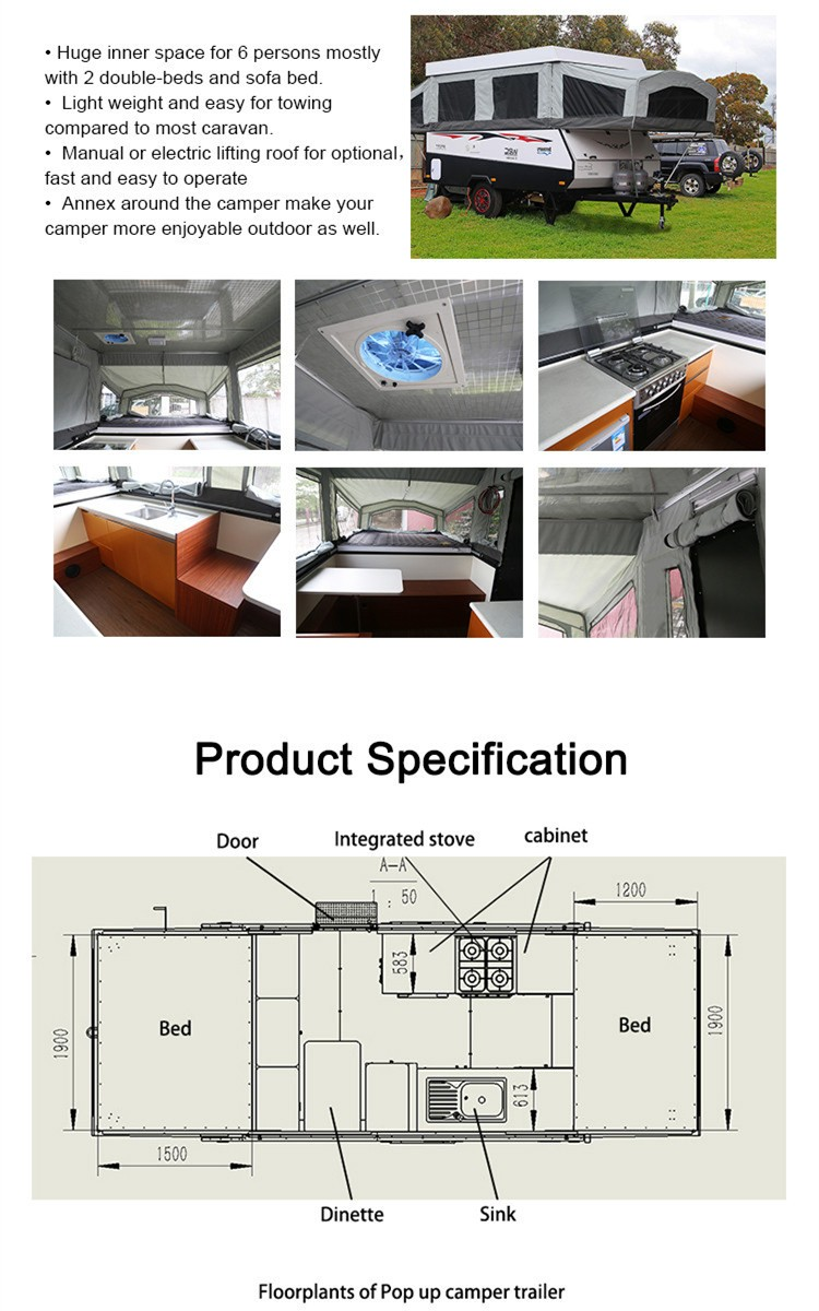 Neues Design Off Road Caravan Popup Anhänger Zum Verkauf Mit 3 ...