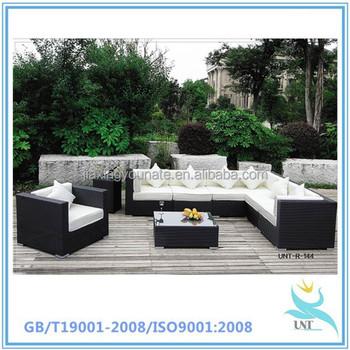 Urban Furnishing   FIJI 9pc Modern Outdoor Backyard Wicker Rattan Patio  Furniture Sofa Sectional Couch Set