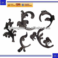 investment casting wrought iron window grill art