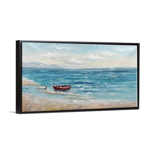 Wall Picture Home Decoration Textured Canvas Art Modern Abstract Seascape Oil Painting