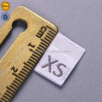 Sinicline Free Sample Custom Woven Clothing Labels Size Labels For