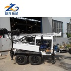 Cheap trailer mounted water well drilling rig