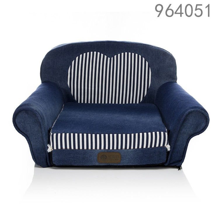 blue Jeans material foldable pet bed sofa