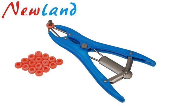 Elastrator Castrating Pliers /& 100 pcs Rubber Rings lambing castration