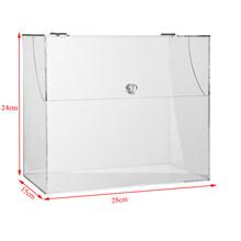 Прозрачный акриловый Органайзер для макияжа коробка для хранения с крышкой Большой настольный органайзер для хранения хлеба косметически...(Китай)