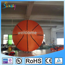 OEM Flying Inflatable Basketball Advertising Balloon 2m Inflatable Basketball Model for Party