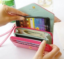 Galaxy s3 cover case,crown smart pouch for Iphone for Samsung for money and card different color wholesale price