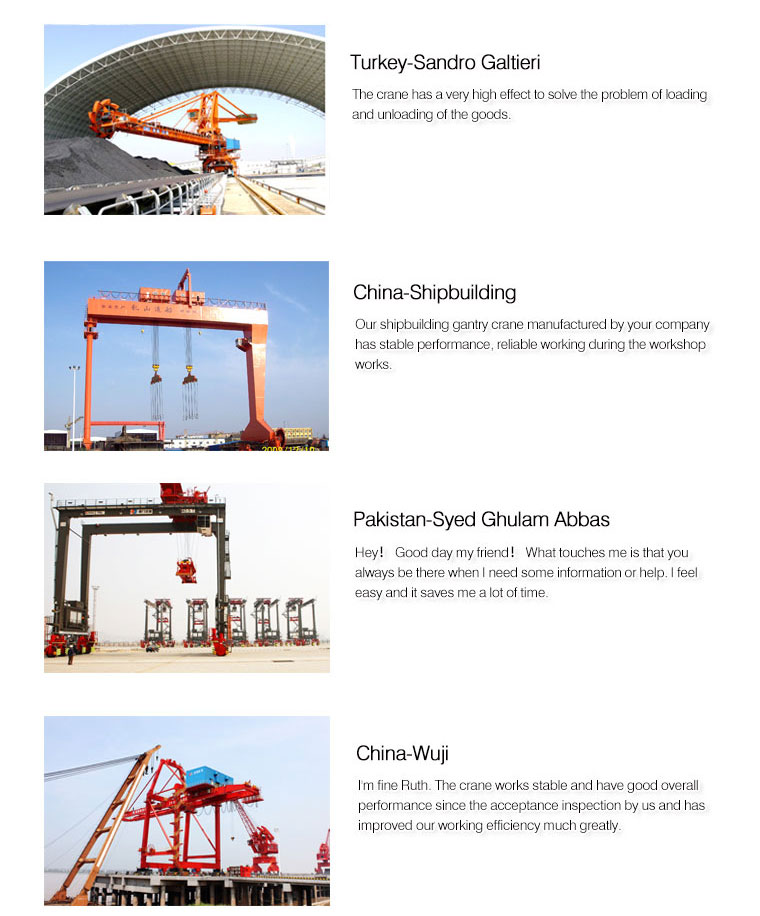 Mine Four Link Container Jetty Portal Cranes for Sale