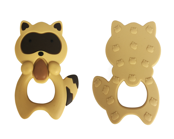 Soft Toy Style Baby Teething Wholesale FDA Approved Food Grade High Quality Silicone Raccoons Teether