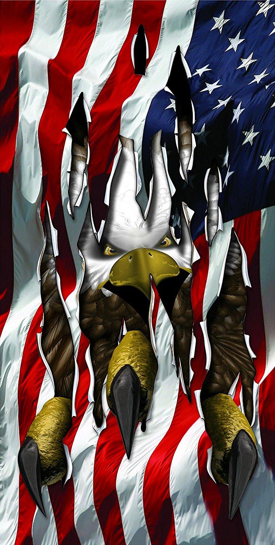 Eagle Ripping Thru Flag wrap Cornhole Decal Wrap Set 3M Laminated Vinyl Prints