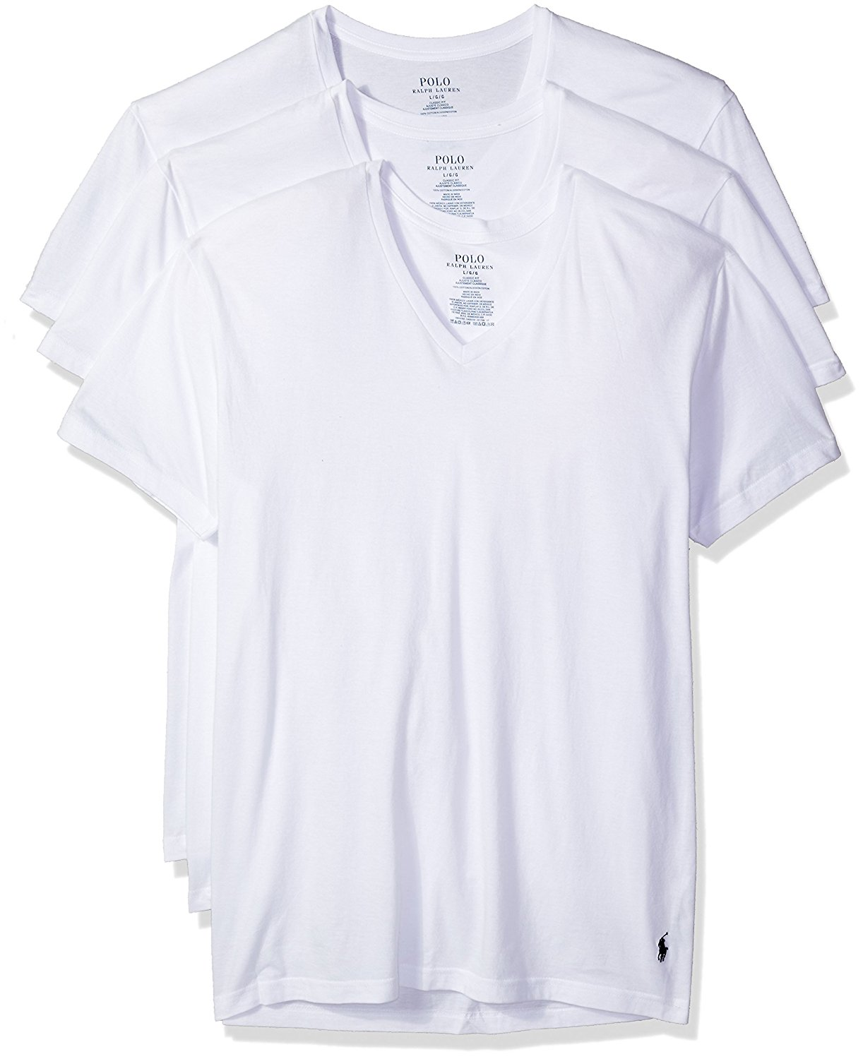 Buy Polo Ralph Lauren Classic Fit V Neck T Shirts 3 Pack In Cheap