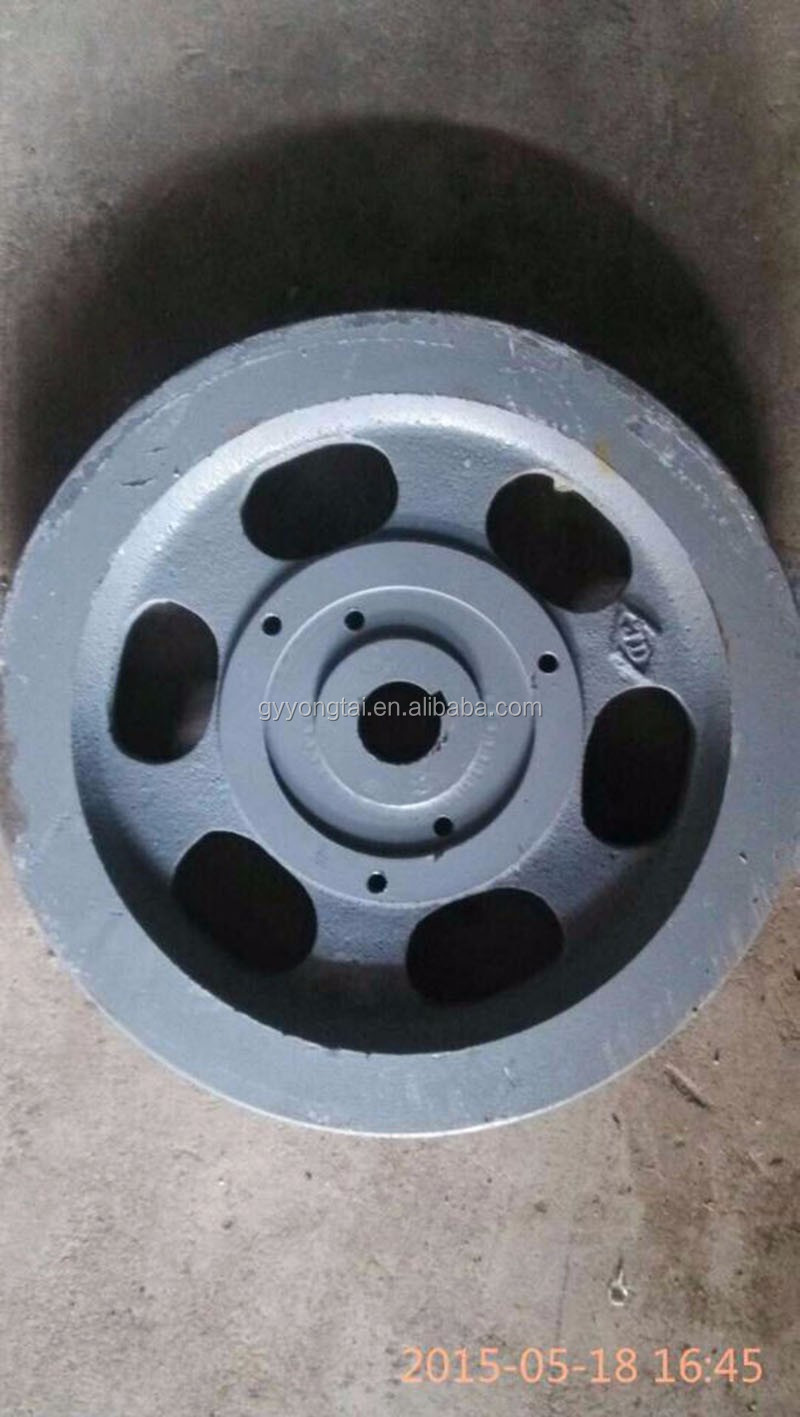 Walking tractor spare parts cast iron flywheel