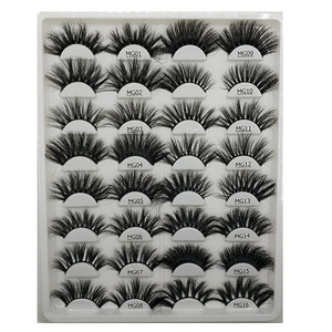 New and hot beautiful long 3d mink lashes 25mm eyelashes