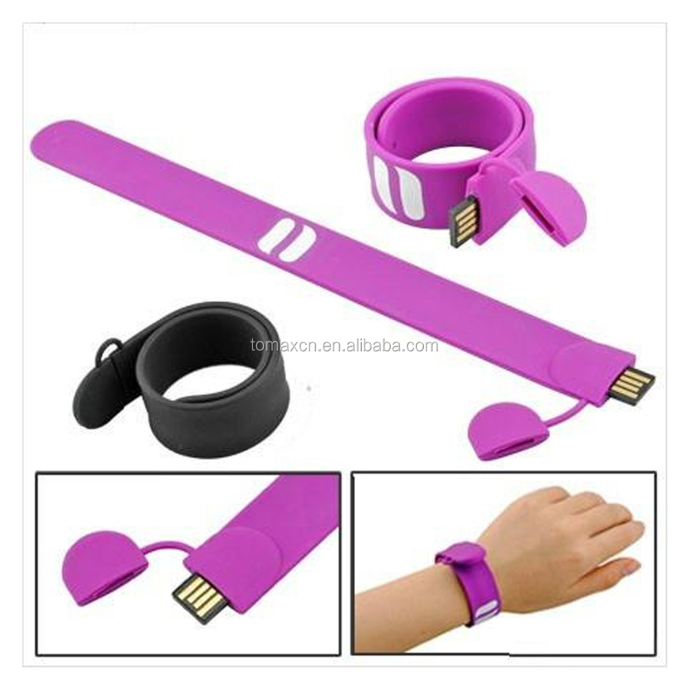 Free print logo Promotion gift silicon wristband 2G 4G 8G 16G 32G 64G USB stick Alibaba wholesale accept paypal