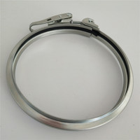 Solid rapid ring clamp with rubber profile for round duct