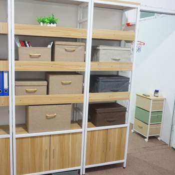 Multi Size Foldable Fabric Drawer Closet Organizer Bins With Wooden Handles