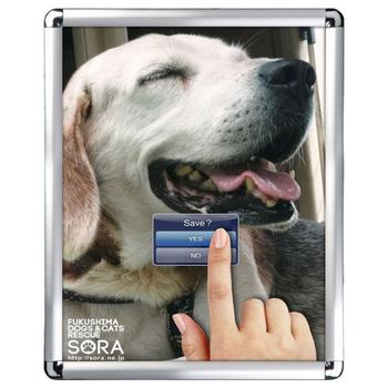 Corner Exhibition Stands Dog : A aluminum exhibition snap frame poster stand round corner