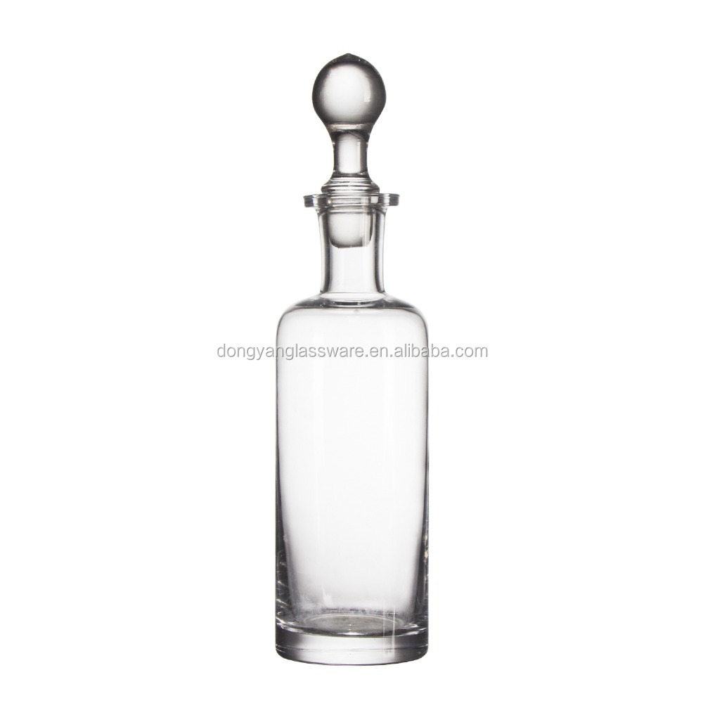 2017 20cm 250ml new Unique shape glass wine bottles with glass ball lid