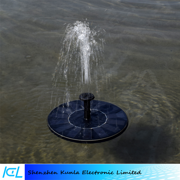 cheap black floating round solar water fountain submersible water pump - Solar Water Fountain