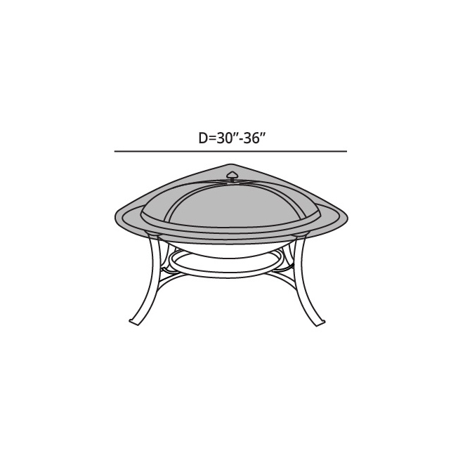 Best quality promotional Hot Sale Outdoor Green Round Fire Pit Cover China Made