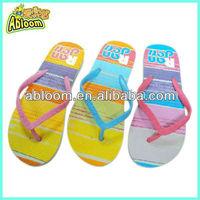 custom rainbow printing flip flops