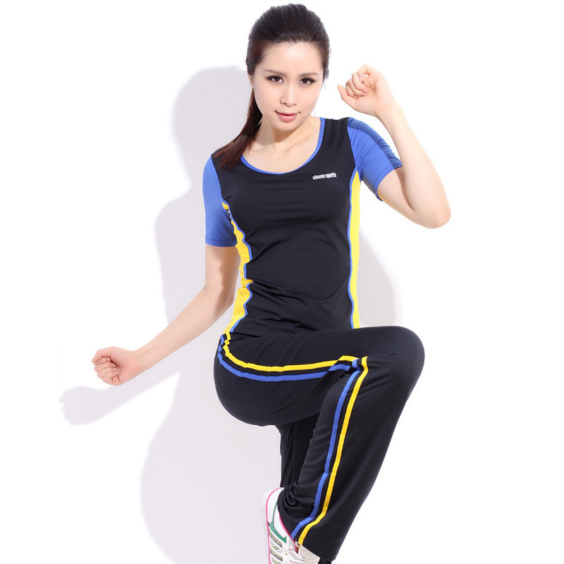 a6d91a8fdcc Get Quotations · Korean Womens Yoga Clothes Winter Clothes Dance Clothes  short-sleeved Aerobics Fitness Yoga Workout Clothes
