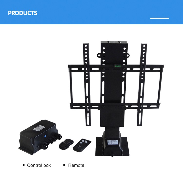Jiecang JC35VT bedroom living room tv lift mechanism smart remote control electric TV Lift