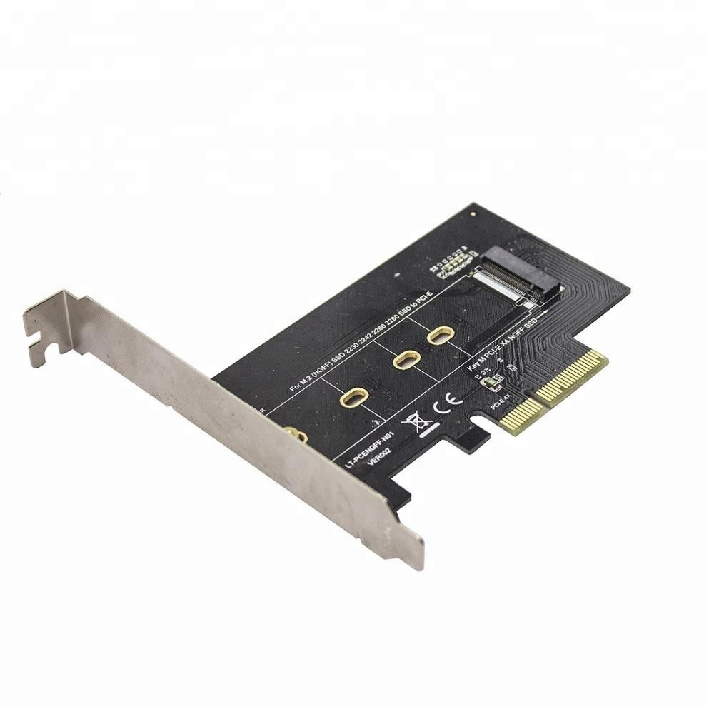 Good M.2 Nvme Ssd Ngff To Pcie X16 Adapter Mkey Port Card Pci-e 3.0 X16 Pci Express Card Full Speed Rgb Led Do You Want To Buy Some Chinese Native Produce? Computer Cables & Connectors