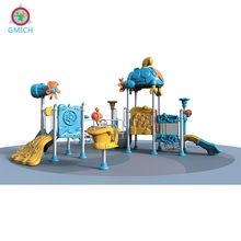 Colorful design children school slide, kids indoor outdoor playground, children's slides and swings JMQ-H014