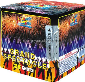 25 shots liuyang pyro mine fire work cake fireworks factory for wholesale