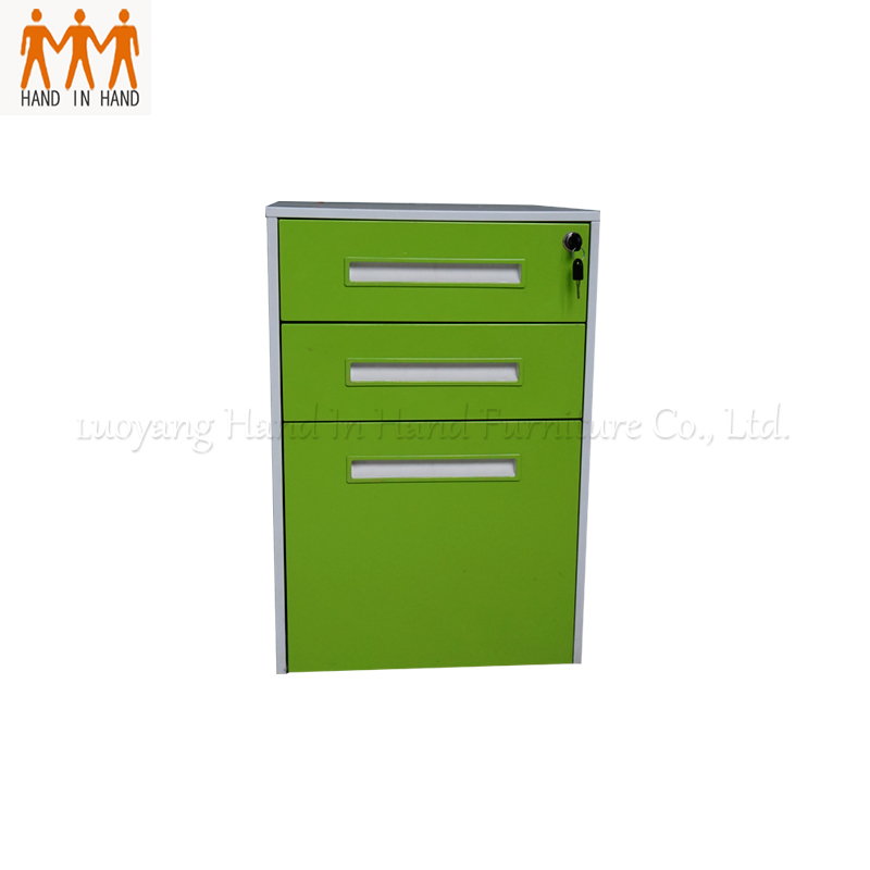 China suppliers iron 3 file lockable nightstand drawer cabinet