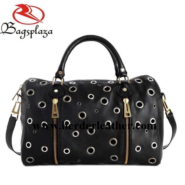2016 Bag China Suppliers Black Eyelet Shoulder Bag College Bags ...