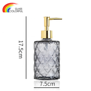 Good quality pump glass soap dispenser