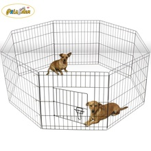 8 Panel Wire Metal Pet Dog Animal Exercise Playpen Fence Enclosure Cage X Large