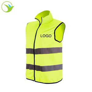 Logo Custom Motorcycle Safety Clothing Volunteer Security High Visibility Waistcoat Running Reflective Vest