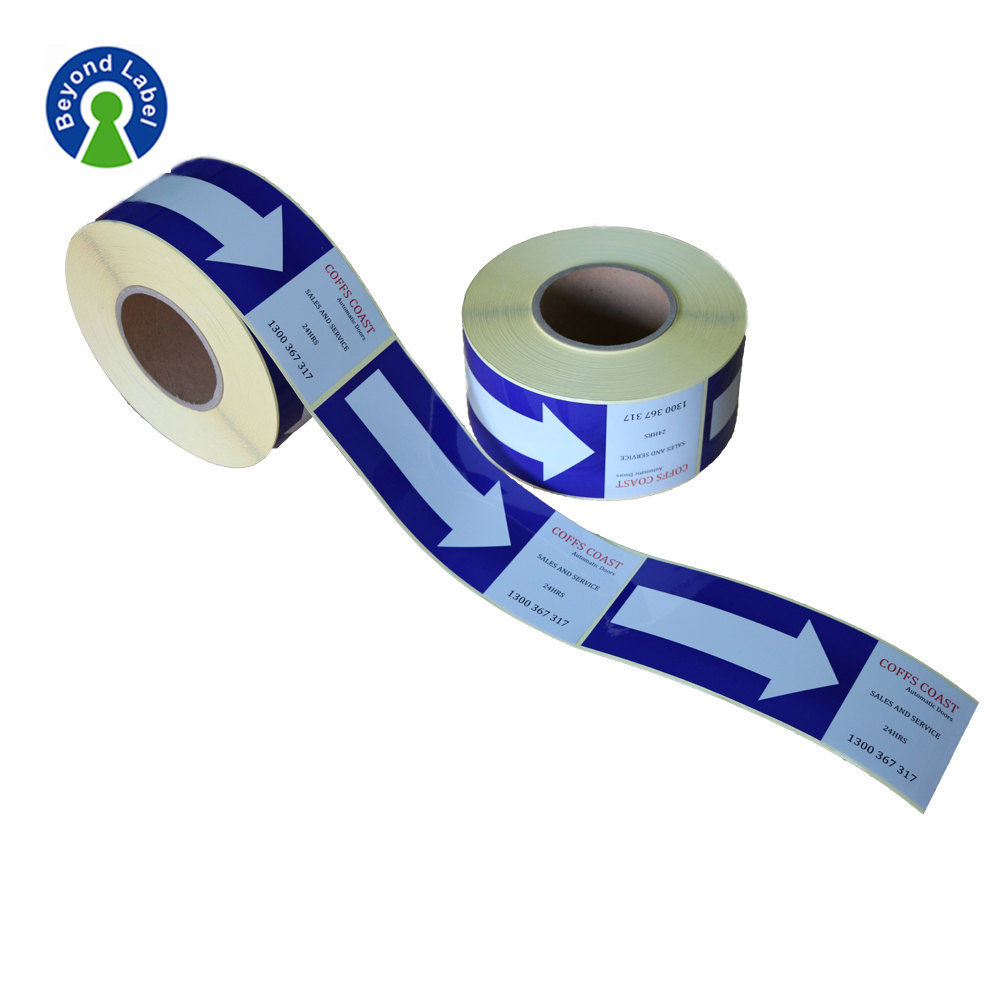 Custom Roll Packaging Printed Labels and Shipping Stickers for Warning Usage or Reminding Usage