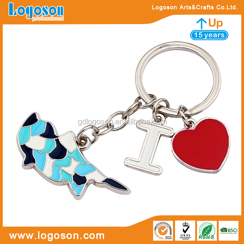 Metal Souvenir Factory Colorful Portable Keyring for Key Accessories Cyprus Travelling Gift Horse Shape Key Chain