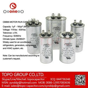 40/2 5MFD 440V Run Capacitor Round Metal Case Capacitores Marcha Aircontion
