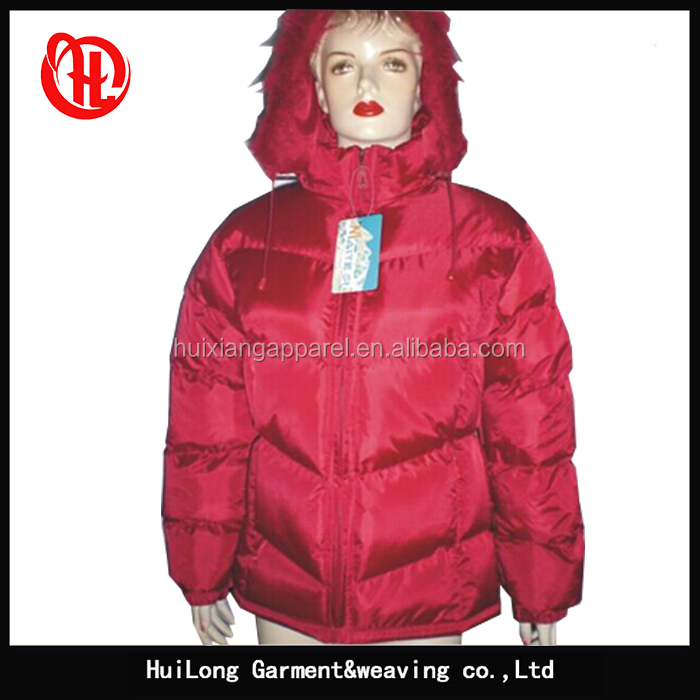 Custom winter hooded women coat warm padding down jacket