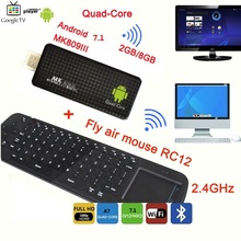 Quad Core RK3229 8 2GB de RAM GB ROM FHD1080P MK809III WI-FI Media <span class=keywords><strong>Player</strong></span> Androind Smart TV Box Mini PC + Air Mouse teclado R12
