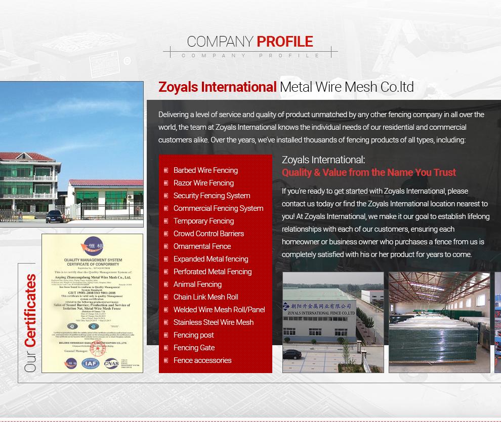 Anping County Zhaoyangsheng Metal Wire Mesh Co., Ltd. - metal fence ...