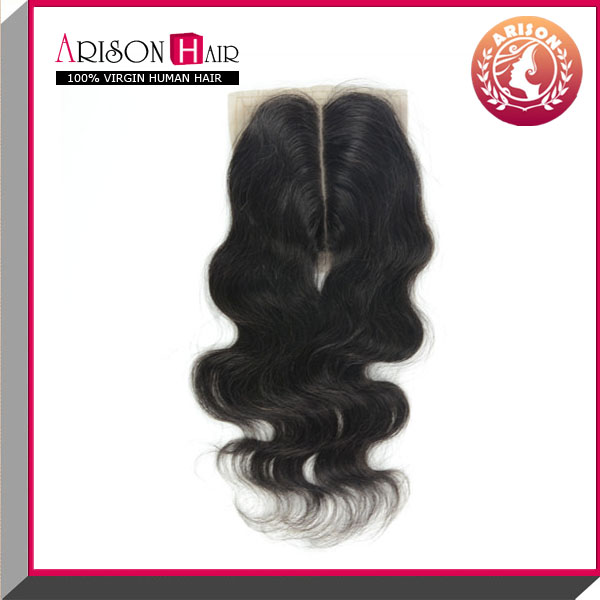 body wave 100% human peruvian virgin hair slik base closure