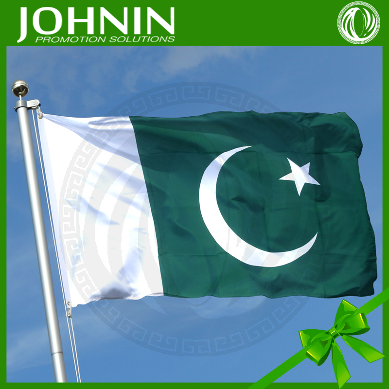Top Grade Professional 90*150cm wholesale polyester Pakistan national flag