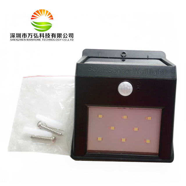 New Promotion 8LED Solar Light Home PIR Wall Light Outdoor Waterproof