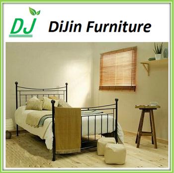 wood slat bed frame assemble metal bed base - Wood And Metal Bed Frame